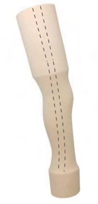 Above knee cosmetic foam, 44cm, right